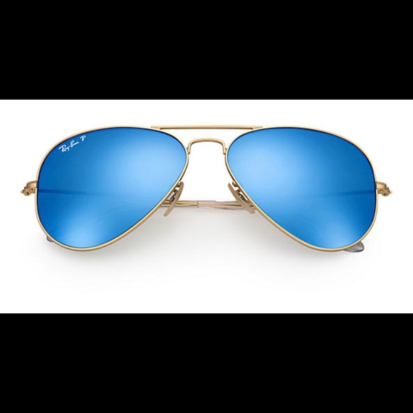 ray ban aviator blue lens